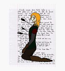 The Departure of Boromir Photographic Print