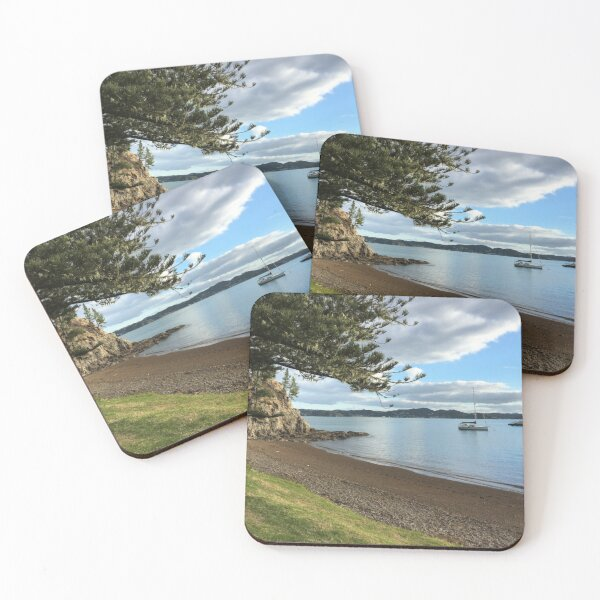Waterfront Boats Coasters (Set of 4)