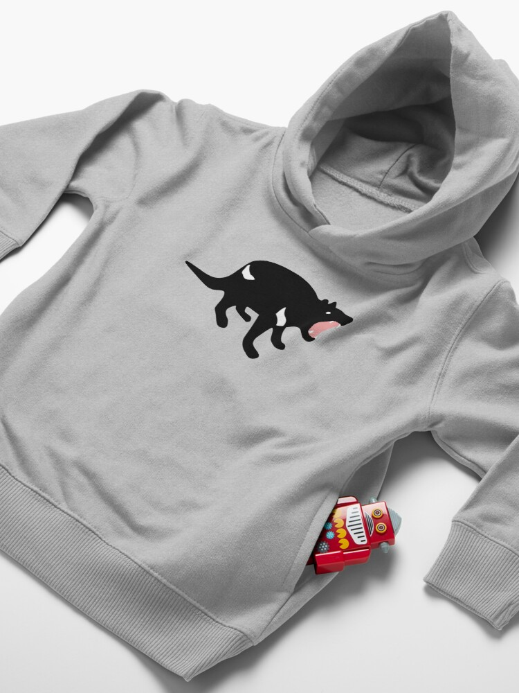 Alternate view of Cranky Little Devil Toddler Pullover Hoodie