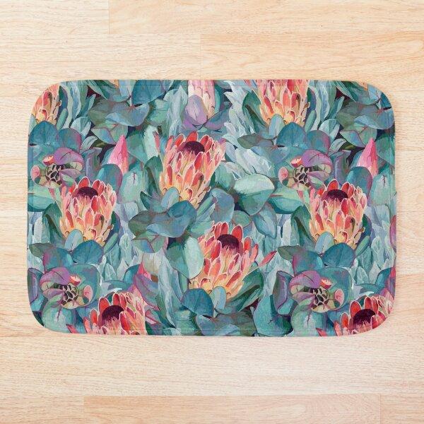 Protea Flowers Bath Mat