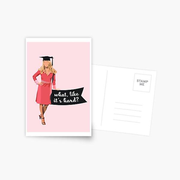 Elle Woods Graduation Print Postcard