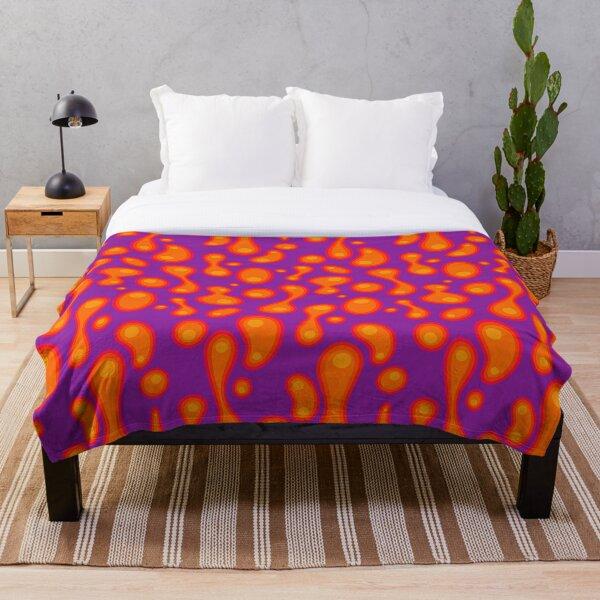 Purple lava lamp Throw Blanket