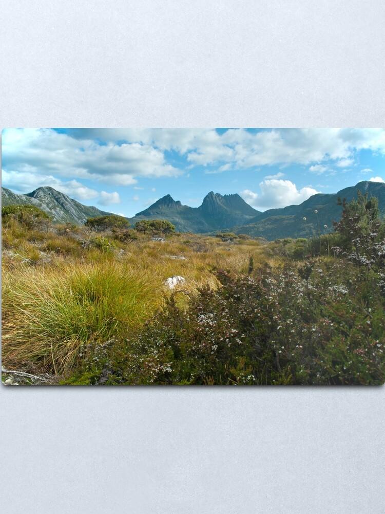 Alternate view of Cradle Mountain view Metal Print