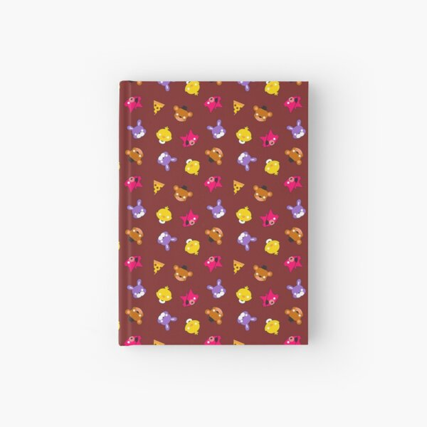 FNAF // Freddy's Faces Pattern Cute Kawaii Chibi for kids Hardcover Journal