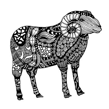 Ram Sheep Illustration by LidiaP