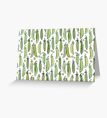 Watercolor Green pea Greeting Card