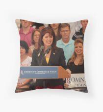 Rebecca Kleefisch Side Two Throw Pillow
