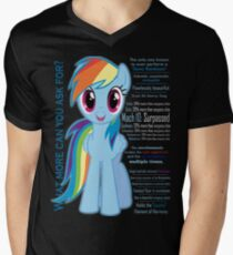 What else could anyone possibly ask for? (Rainbow Dash) Men's V-Neck T-Shirt