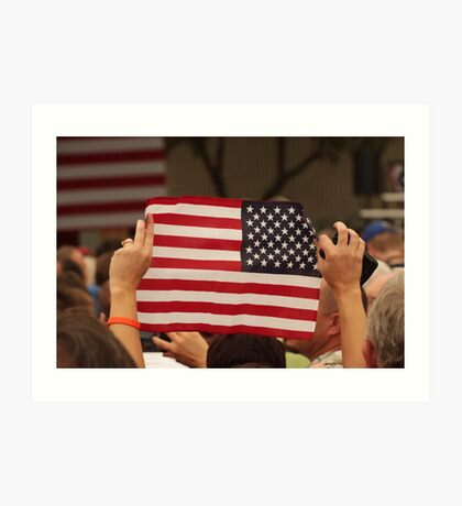 Backwards Patriotism Art Print
