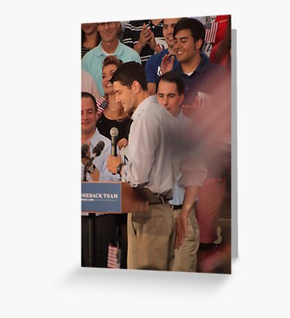 Paul Ryan wafts one to the crowd Greeting Card