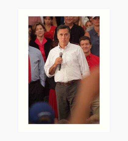 Mitt Romney Abashed Art Print