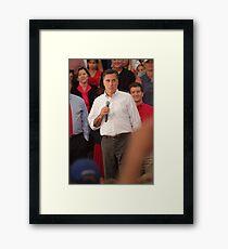 Mitt Romney Abashed Framed Print