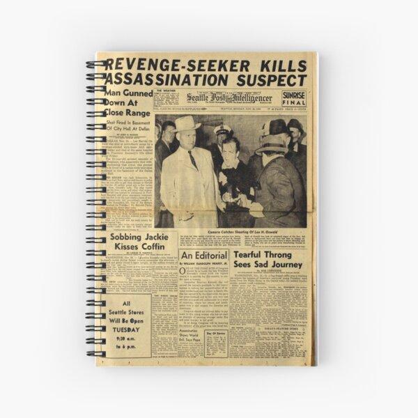 Old Newspaper Spiral Notebook