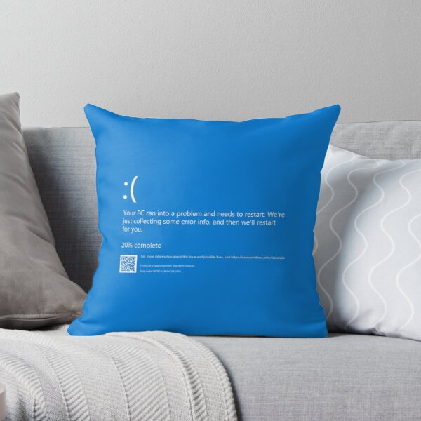 Blue Screen of Death NEW Throw Pillow