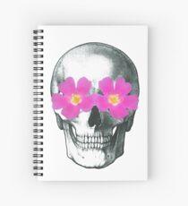 Flowering skull  Spiral Notebook