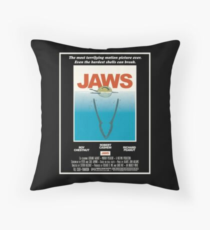 Jaws! Throw Pillow