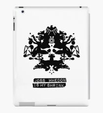 """Joss Whedon Is My Shrink"" - Dark iPad Case/Skin"