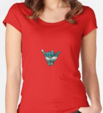 Shaka  Women's Fitted Scoop T-Shirt