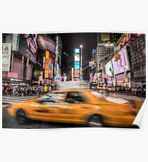 Taxi in times square Poster