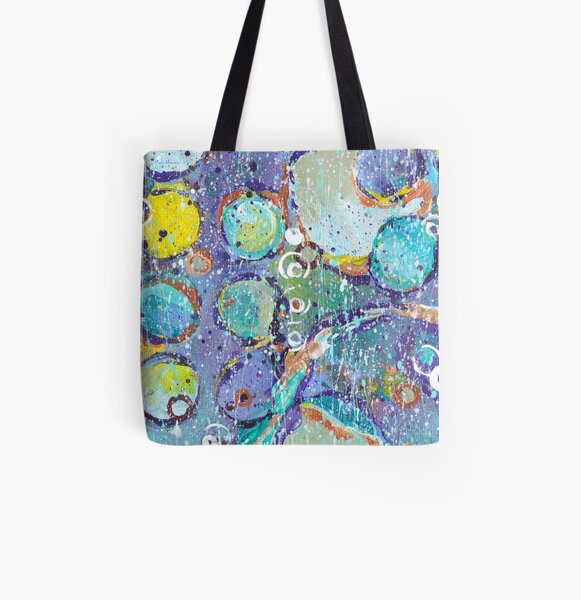 Circle Space Bright Abstract All Over Print Tote Bag