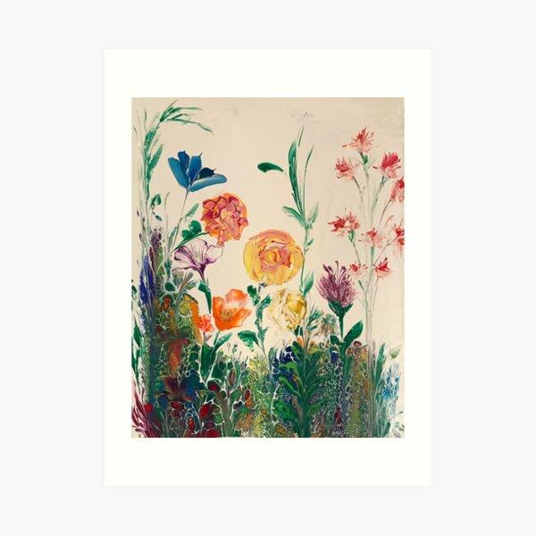 BACKYARD BLOOMS Art Print