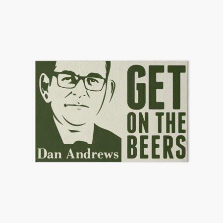 Get on the beers (original artwork) Art Board Print