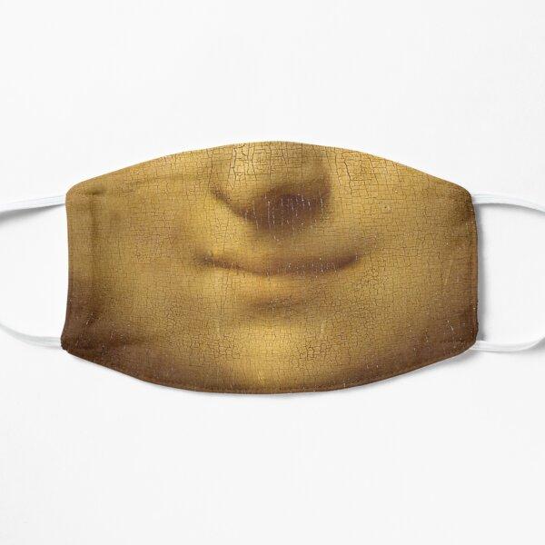 The Smile of Mona Lisa Face Mask
