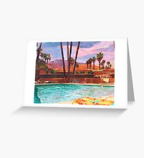 The Palm Springs Pool Greeting Card