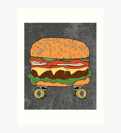Nose + Cheese + Tail. Art Print