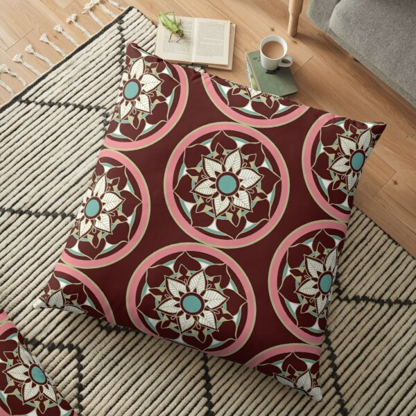 Mandalas and Flowers Floor Pillow