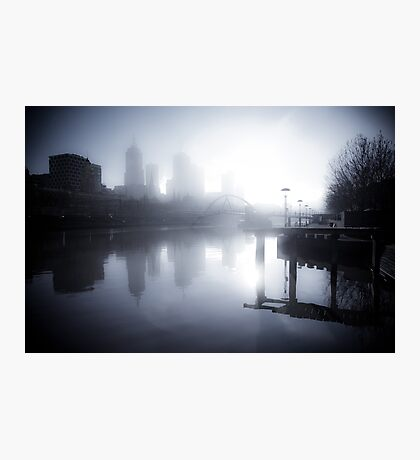 Misty Melbourne Morning Photographic Print