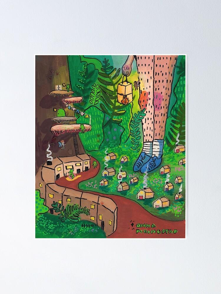 Alternate view of fairyhouse design Poster