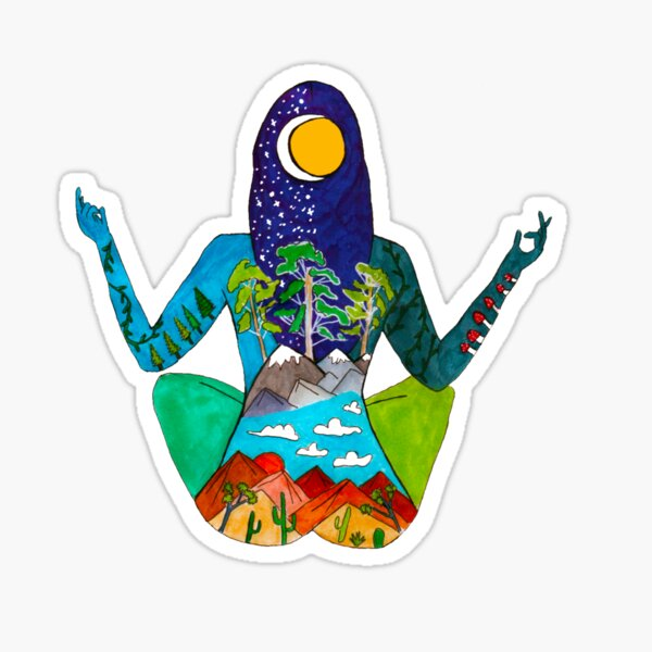 Meditation Time Sticker
