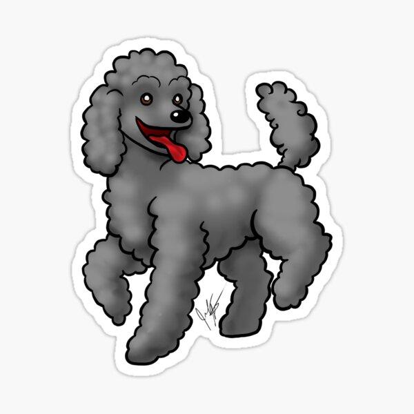 Poodle Black Sticker