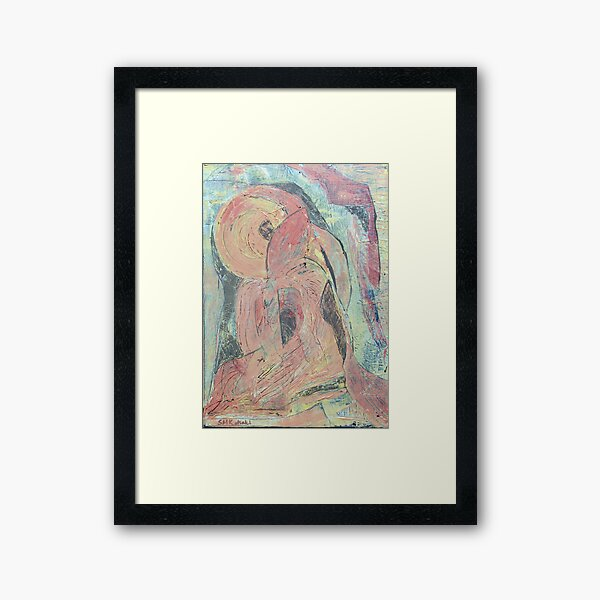 In her arms Framed Art Print