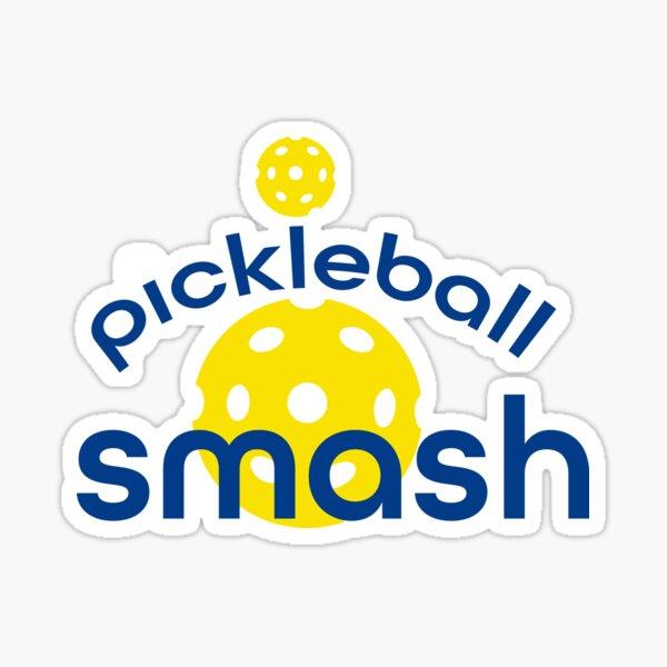 Funny Yellow Pickleball Smash Sticker