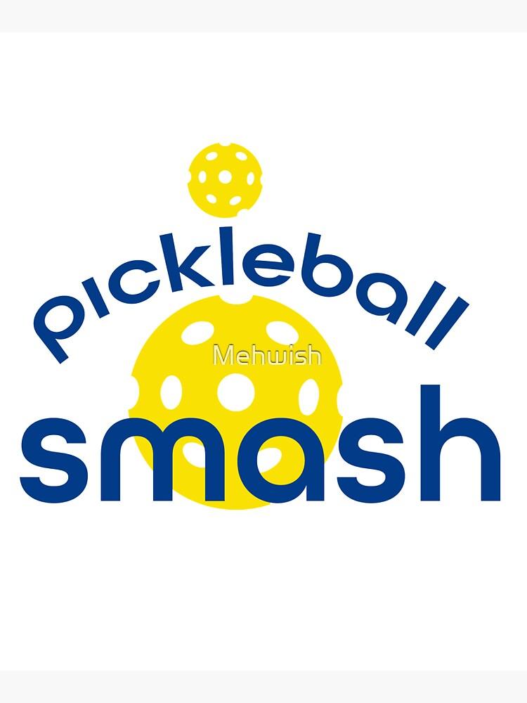 Funny Yellow Pickleball Smash by Mehwish