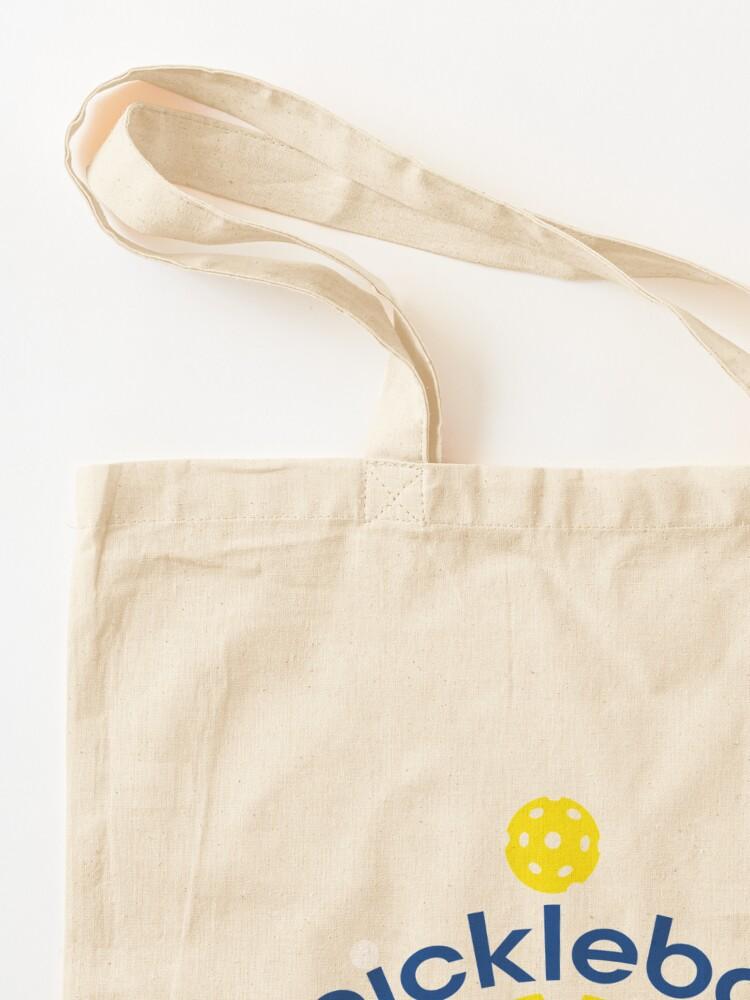 Alternate view of Funny Yellow Pickleball Smash Tote Bag