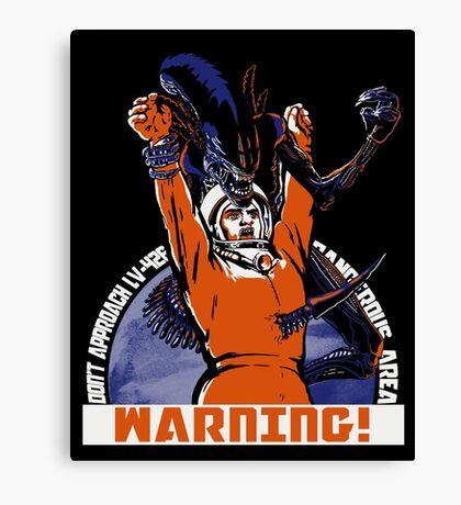 Warning. Canvas Print
