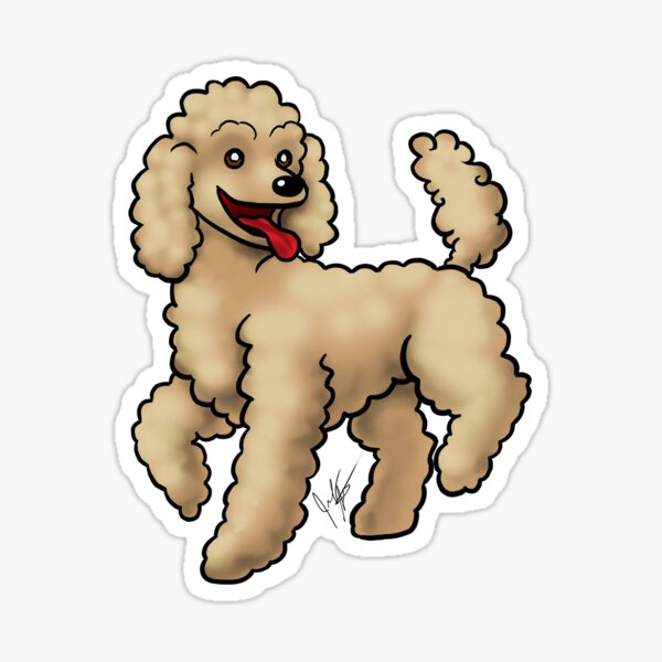 Poodle - Brown Sticker