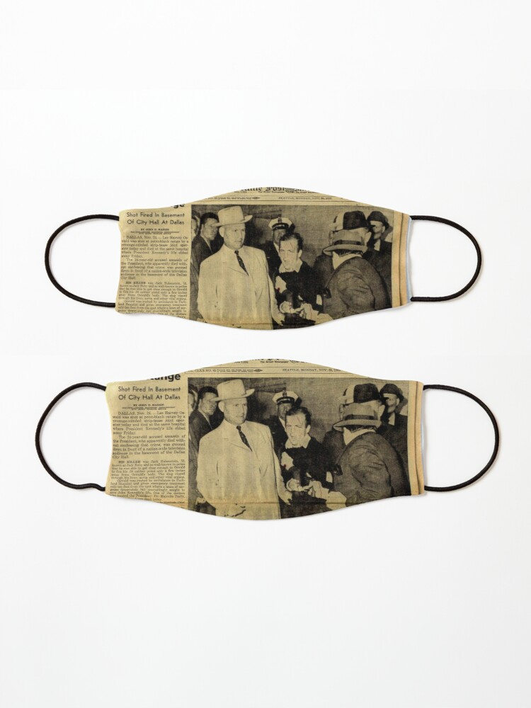 Alternate view of Old Newspaper Mask