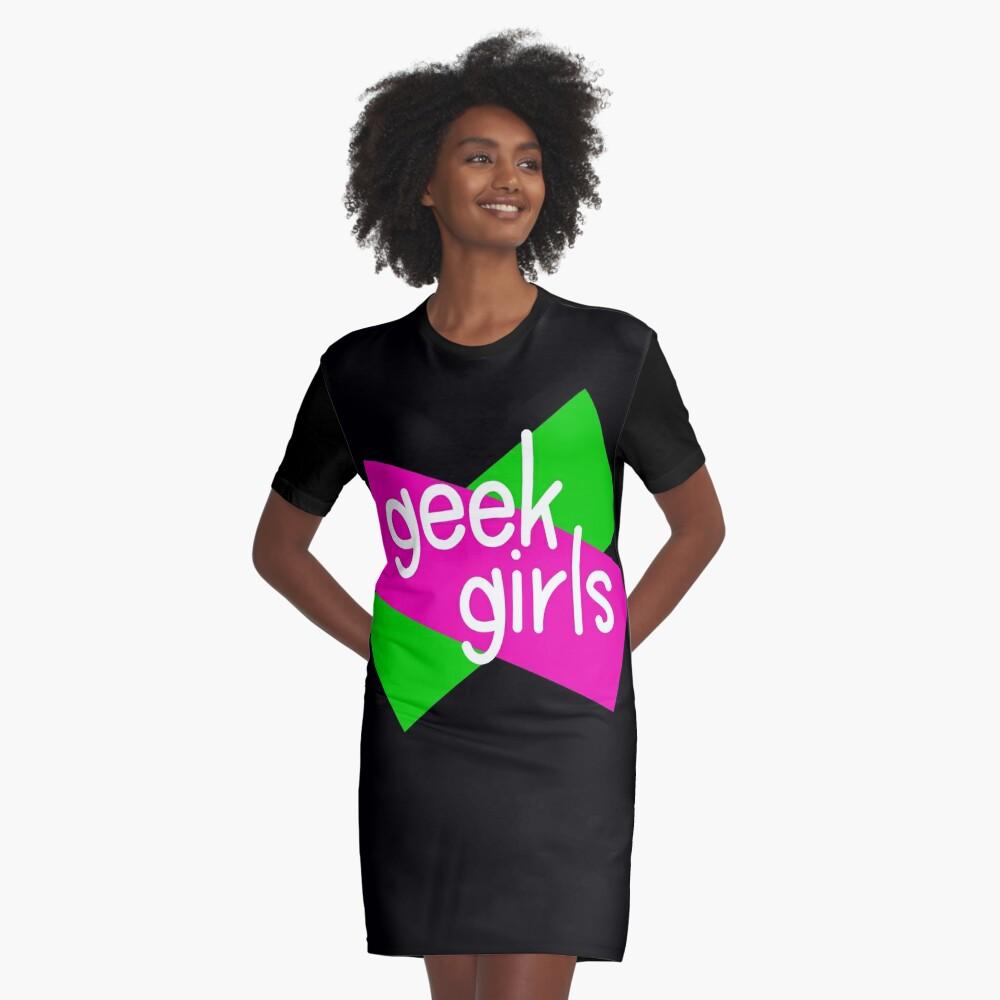 Geek girls have more fun Graphic T-Shirt Dress