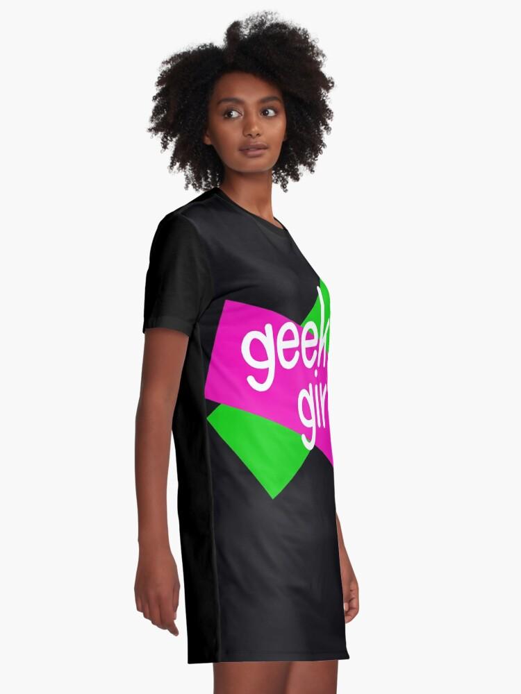 Alternate view of Geek girls have more fun Graphic T-Shirt Dress
