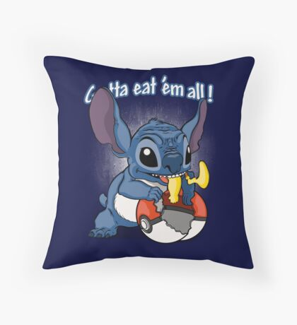Gotta eat'em all. Throw Pillow