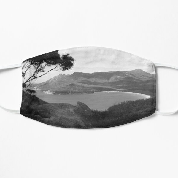 Wineglass Bay II - BW Flat Mask
