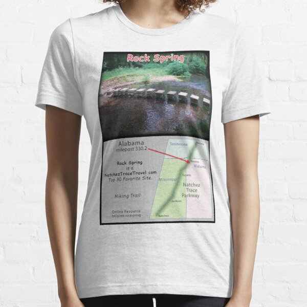 Rock Spring (summer) on the Natchez Trace Parkway. Essential T-Shirt