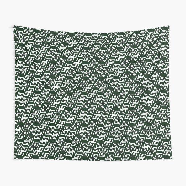 Math Binary Triangle Pattern Tapestry