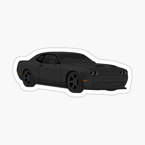 dodge challenger stickers redbubble redbubble