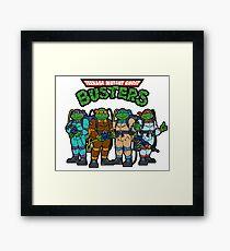 Teenage Mutant Ghost Busters Framed Print