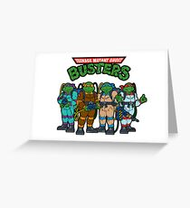 Teenage Mutant Ghost Busters Greeting Card